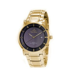 UNISILVER TIME MEN'S VANTEDGE-LINEAR PAIR ANALOG STAINLESS STEEL GOLD / BLACK WATCH KW1957-1205 image here