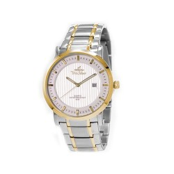 UNISILVER TIME MEN'S VANTEDGE-LINEAR PAIR ANALOG STAINLESS STEEL TWO-TONE / SILVER WATCH KW1957-1304 image here