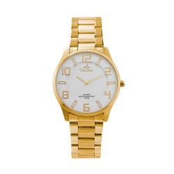 UNISILVER TIME MEN'S MODALLUS PAIR ANALOG STAINLESS STEEL GOLD/WHITE KW2162-1204 image here
