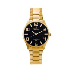 UNISILVER TIME MEN'S MODALLUS PAIR ANALOG STAINLESS STEEL GOLD/BLACK KW2162-1205 image here