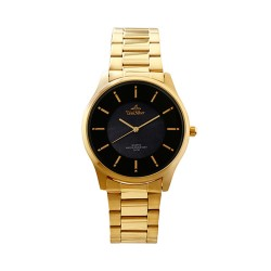 UNISILVER TIME MEN'S TRAVELLO PAIR ANALOG STAINLESS STEEL GOLD / BLACK MOTHER-OF-PEARL KW2164-1205 image here