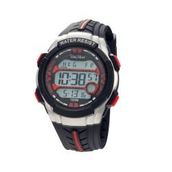 UNISILVER TIME MEN'S DYMO-BEATZ DIGITAL RUBBER BLACK / RED KW2249-1004 image here