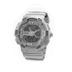 """UNISILVER TIME UNISEX """"DEERE"""" ANALOG-DIGITAL RUBBER GRAY KW1945-1001 WATCH image here"""