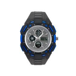 HEA TURBO UNISEX BLACK/BLUE RUBBER WATCH KHA1833-1003   image here