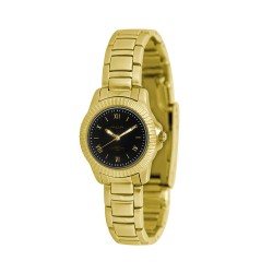 MOA COSTANZIA PAIR WOMEN'S GOLD / BLACK ANALOG STAINLESS STEEL WATCH KM739-2205  image here