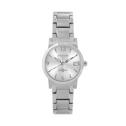 M.O.A LADIES' VERSA VINTAGE - BAMBOO SERIES PAIR ANALOG STAINLESS STEEL SILVER KM1143-2102 WATCH image here