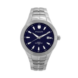 M.O.A MEN'S TYCHO - SCALERE SERIES ANALOG STAINLESS STEEL SILVER / NAVY BLUE KM1157-1103 WATCH image here