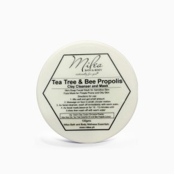 TEA TREE AND BEE PROPOLIS CLAY CLEANSER AND MASK image here