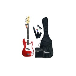 THOMSON ELECTRIC BASS GUITAR PACKAGE (RED)   image here