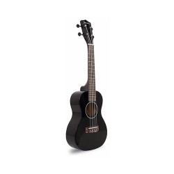 "23"" COLORED CONCERT SIZE UKULELE (BLACK)  image here"
