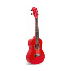 "23"" COLORED CONCERT SIZE UKULELE (RED)   image here"
