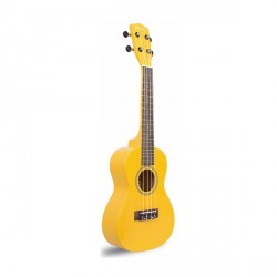 "23"" COLORED CONCERT SIZE UKULELE (YELLOW)   image here"