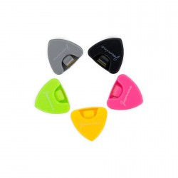 5PCS PLACTIC TRIANGLE SHAPE GUITAR PICK PLECTRUM HOLDER CASES image here