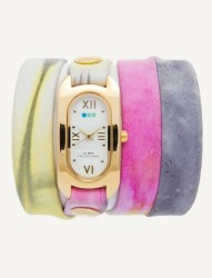 SOHO WRAP WATCH -PASTEL WATER COLOR/GOLD image here