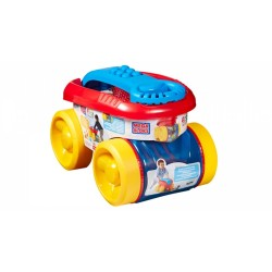 MEGABLOKS BLOCK SCOOPING WAGON BLUE image here