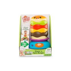 BRIGHT STARTS GIGGLING GOURMET STACK N' SPIN BURGER image here