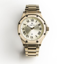 MSTR AMBASSADOR S - GOLD / GOLD STAINLESS STEEL BAND WATCH image here
