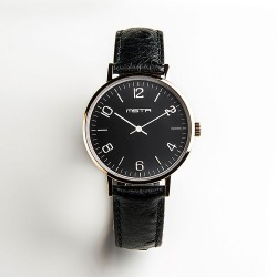MSTR MERCIER ONE - ROSE GOLD / BLACK WITH OSTRICH STYLE BAND WATCH image here