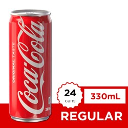 Coca-Cola Regular 330ml 24s image here