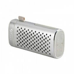 ZILLA PORTABLE BLUETOOTH SPEAKER WITH 4000 MAH POWER BANK - SILVER image here