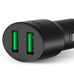 Latest Gadgets,TRONSMART CC2TF 36W TWO PORT 2 USB QUICK CHARGER 3.0,black,LGTROCC2TFBLK-0005393 image here