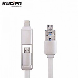 Latest Gadgets,2 in 1 K87 Multifunction Charging Cable with OTG,white,LGKUC00K87WHT-0005267 image here