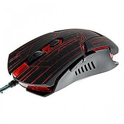 2400 DPI Adjustable Lighted Gaming Mouse - Black/Red image here