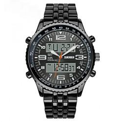 30M Waterproof Dual Mode Metal Watch - Grey Dial image here