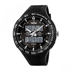 30M Waterproof Dual Mode Watch - Black  image here