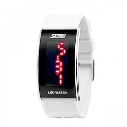 30M Waterproof Red Light LED Watch - White image here