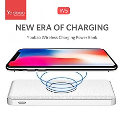 5,000 mAh Yoobao W5 Dual Output and Wireless Charging - White image here