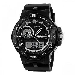 Latest Gadgets,50M Waterproof Dual Mode Chronograph Watch,black,LGSKMSKMEIBLK-0004323 image here