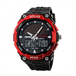 Latest Gadgets,50M Waterproof Dual Mode Watch,red,LGSKM01049RED-0004311 image here