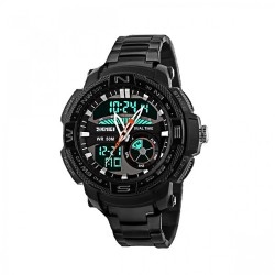 Latest Gadgets,50M Waterproof Multifunctional Dual Mode Sport Watch,black,LGSKM01121BLK-0004518 image here