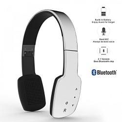 Latest Gadgets,AEC Smart HiFi Wireless Bluetooth Headphone With Touch Sensitive Control Panel,white,LGAECBQ960WHT-0006105 image here