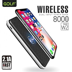 Latest Gadgets,GOLF W2 8000 mah Wireless Dual Input Powerbank,black,LGGLF000W2XXX-0007142 image here