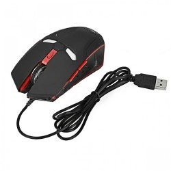 Iron Man 2000 DPI Wired Gaming Mouse - Black/Red image here
