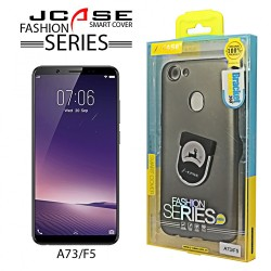 Latest Gadgets,J-case 360 Oppo A73/F5 Fashion Series Smart Cover with Ring Holder,gray,LGGEN00001BLK-0007224 image here