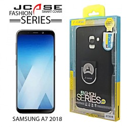 Latest Gadgets,J-case 360 Samsung A7 2018 Fashion Series Smart Cover with Ring Holder ,black,LGGEN00001BLK-0007223 image here