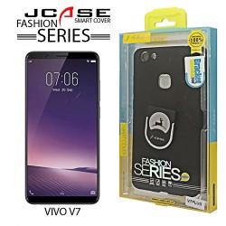 Latest Gadgets,J-Case 360 Vivo V7 Plus Fashion Series Smart Cover with Ring Holder,black,LGJCS00001BLK-0007240 image here