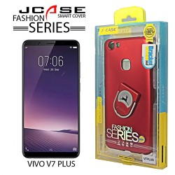Latest Gadgets,J-case 360 Vivo V7 PLus Fashion Series Smart Cover with Ring Holder,red,LGGEN00001RED-0007226 image here