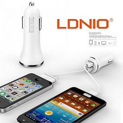 Latest Gadgets,LDNIO High Quality Dual USB Car Charger,silver,LGLDNDLC23SLR-0006488 image here