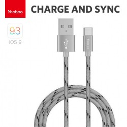 Latest Gadgets,Yoobao 1 Meter Type-C Charging Sync Cable,gray,LGYBOYB415GRY-0006398 image here