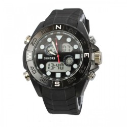 Latest Gadgets,Shhors SH-0112 Men Dual Mode Sport Watch,black,LGSHSSH011BLK_0005615_2 image here