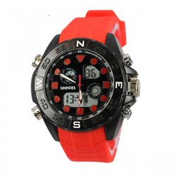 Latest Gadgets,Shhors SH-0112 Men Dual Mode Sport Watch,red,LGSHSSH011RED-0005613 image here