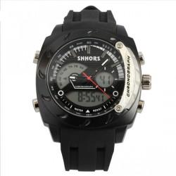 Shhors SH-0231A Men Dual Mode Digital And Analog Watch - Black image here