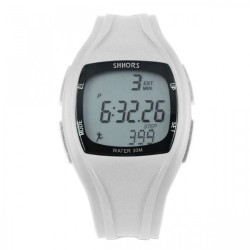 Latest Gadgets,Shhors SH-0270 Sport Watch With Pedometer,white,LGSHSSH027WHT-0005608 image here