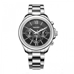 Latest Gadgets,Shhors SH-A0016 Metal Casual Watch,black,LGSHSSHA00BLK-0005620 image here