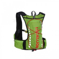Local Lion Outdoor Backpack Vest Bag - Green/Red image here