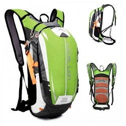 LOCAL LION Outdoor Cycling/Travelling Backpack - Green/Grey image here